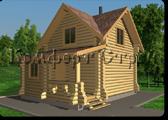 Проект деревянной бани 0-2, Комфорт строй, с сайта Поморсруб.рф