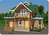 Проект деревянной бани 0-3, Комфорт строй, с сайта Поморсруб.рф