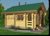 Проект деревянной бани 0-5, Комфорт строй, с сайта Поморсруб.рф