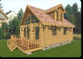 Проект деревянной бани 0-6, Комфорт строй, с сайта Поморсруб.рф