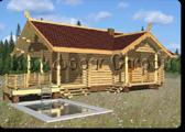 Проект деревянной бани 0-7, Комфорт строй, с сайта Поморсруб.рф