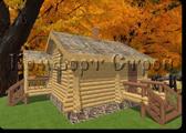 Проект деревянной бани 0-9, Комфорт строй, с сайта Поморсруб.рф