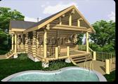 Проект деревянной бани 1-0, Комфорт строй, с сайта Поморсруб.рф