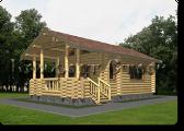 Проект деревянной бани 1-1, Комфорт строй, с сайта Поморсруб.рф