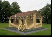Проект деревянной бани 1-2, Комфорт строй, с сайта Поморсруб.рф